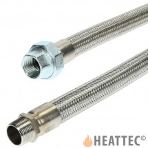 Flexible Gas Hose Stainless Steel 1 1/2""